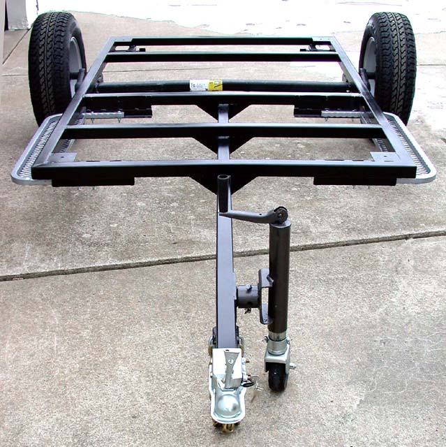 teardrop trailer chassis front view