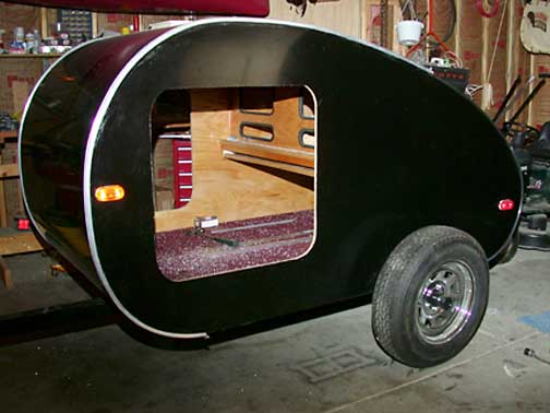 Teardrop Campers Interior View of teardrop trailer with